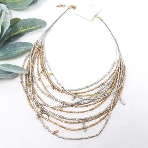 COLDWATER CREEK Illusion Layered Metallic Necklace